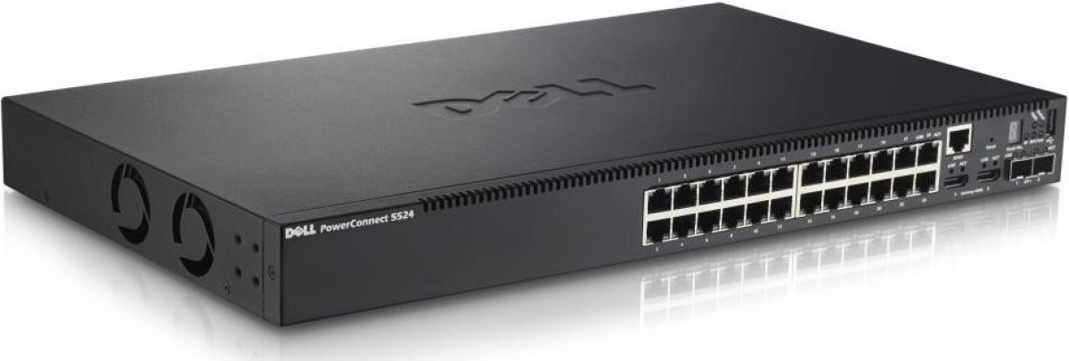 Dell PowerConnect(TM) 5524 24 Ports Gigabit Ethernet Managed L2 Switch  10Gbe & Stacking Capable