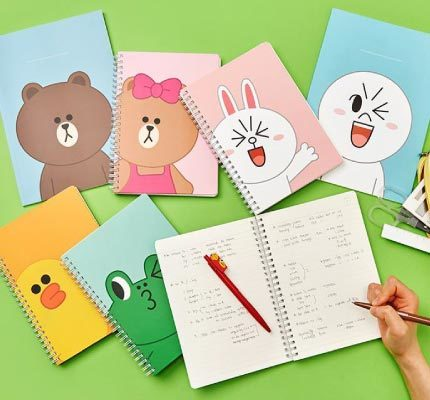 (Official)-LINE-Friends---A5-Spiral-Ring-Notebook-(4-Designs).jpg
