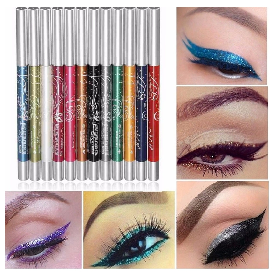 365 Shoppers New Arrival Innisfree Auto Eyebrow Pencil 100 Ori 12 Colors Rotate Ultra Bright Eyeshadow Lip Liner Eyeliner Pen Makeup Kit