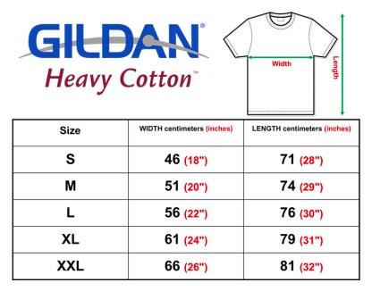 Gildan Heavy Cotton Size Chart