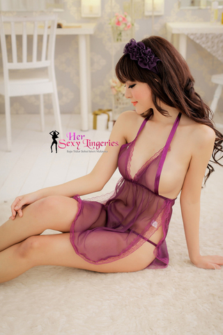 BDY732 See-True Sexy Belly Babydoll Nightwear Lingerie 15.jpg