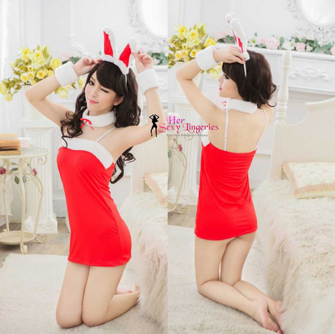 BDY1085 Custome Sexy Rabbit Babydoll Nightwear 0.jpg