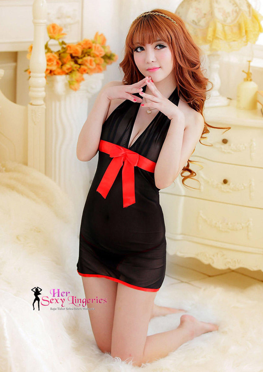 AB210 Sexy Lady Sleepwear Lingeries (Black)6.jpg