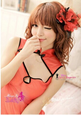 Chinadoll Babydoll Sleepwear Nightwear Dress (Red) BDY729 3.jpg