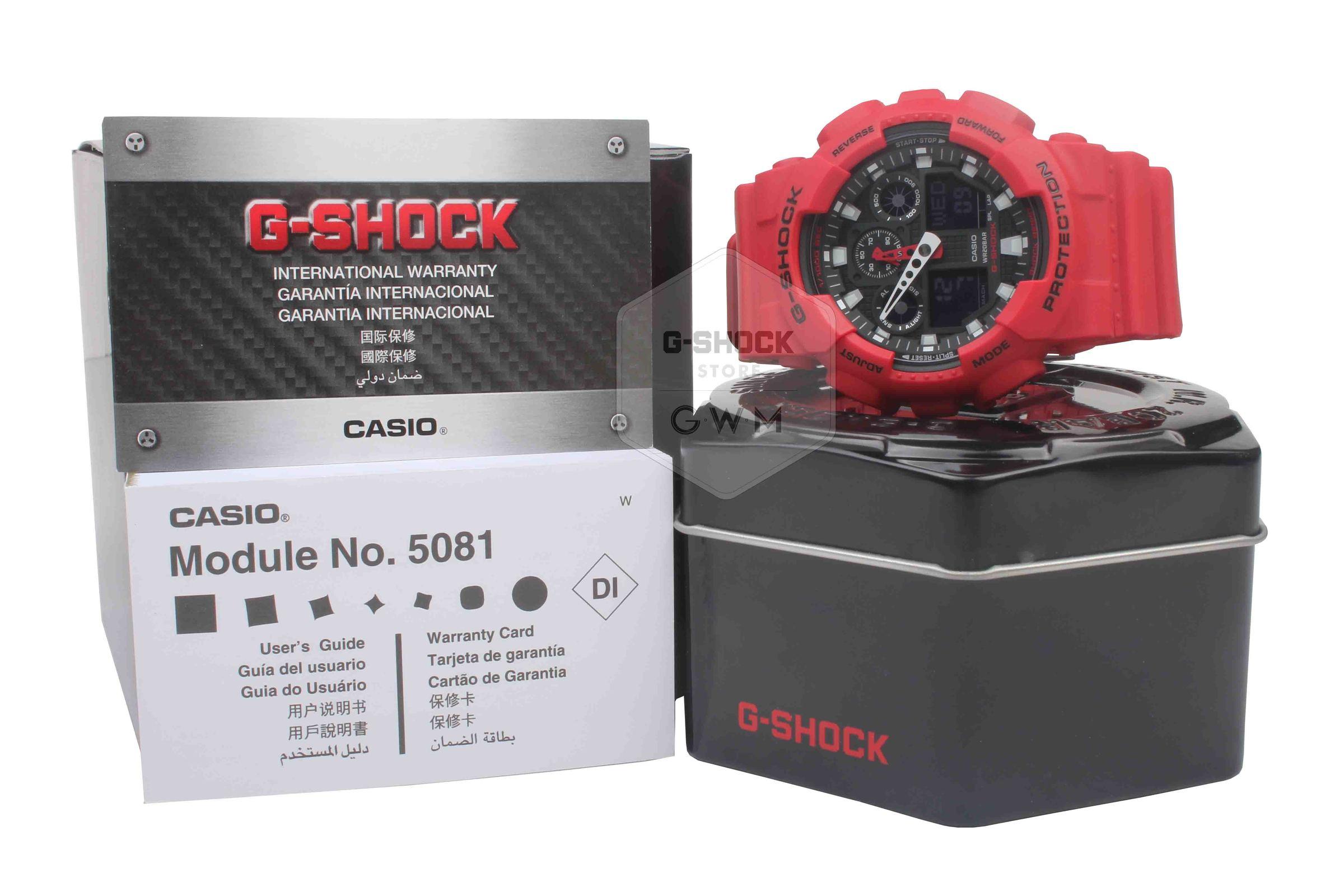 Casio G Shock Analog Digital Ga 100b 4a And Baby 4adr 4
