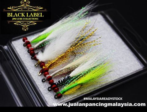 BLACK LABEL CLOUSER MINNOW PEACOCK BASS SPIN FLY LURE.JPG