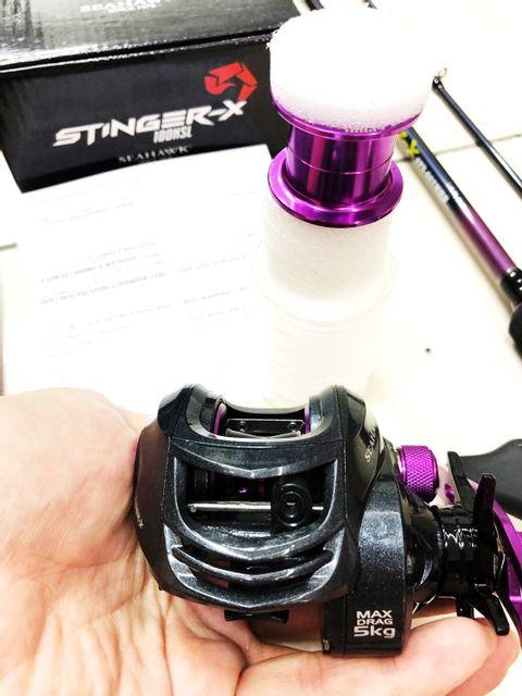 Seahawk Stinger-X Rod+Reel (2 Spool) deep and shallow + Fish Gripper, Combo Set VC purple xx.jpg