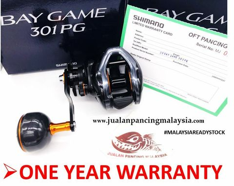 SHIMANO 2020 BAYGAME 301PG Baitcasting Reel with 1 Year Local Warranty , LEFT ff.JPG