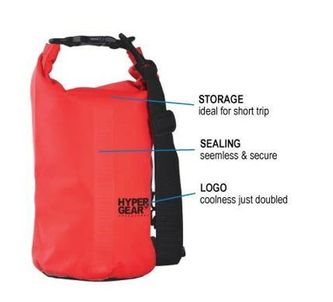 Hypergear Dry Bag (10LITER) (Waterproof Bag  Durable  Heavy Duty  Outdoor Bag  Multifunctional Bag (100% Original + 1 Year Warranty) xssaxc.jpg
