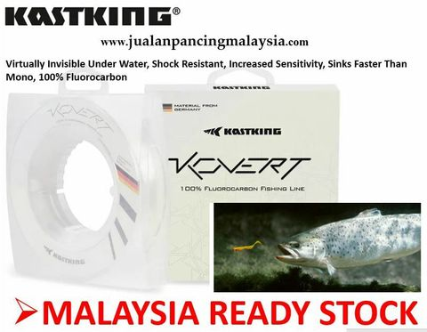 KastKing Kovert Fluorocarbon Fishing Line and Fluorocarbon Leader, Made in Germany, Virtually Invisible Under Water, Shock Resistant, Increased Sensitivity, Sinks Faster Than Mono, 100% Flu.JPG