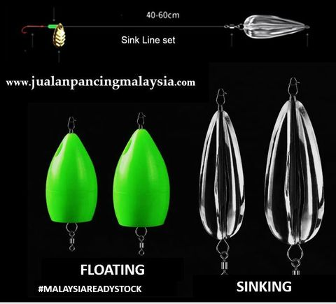 SKYGITZ MALAYSIA FLY FISHING FLOAT & SINKER LADUNG LONG DISTANCE CASTING FOR MICRO LURE AND FLY.JPG