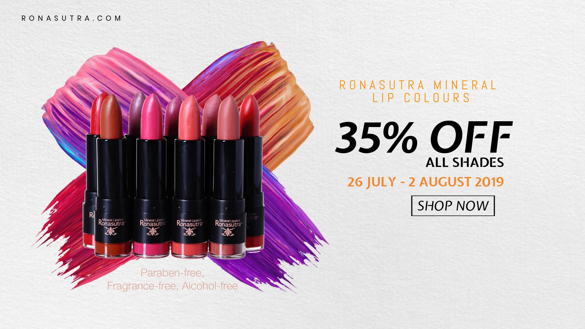 Ronasutra Mineral Lip Colours