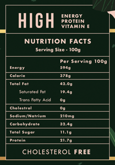Monkey King nutrition fact