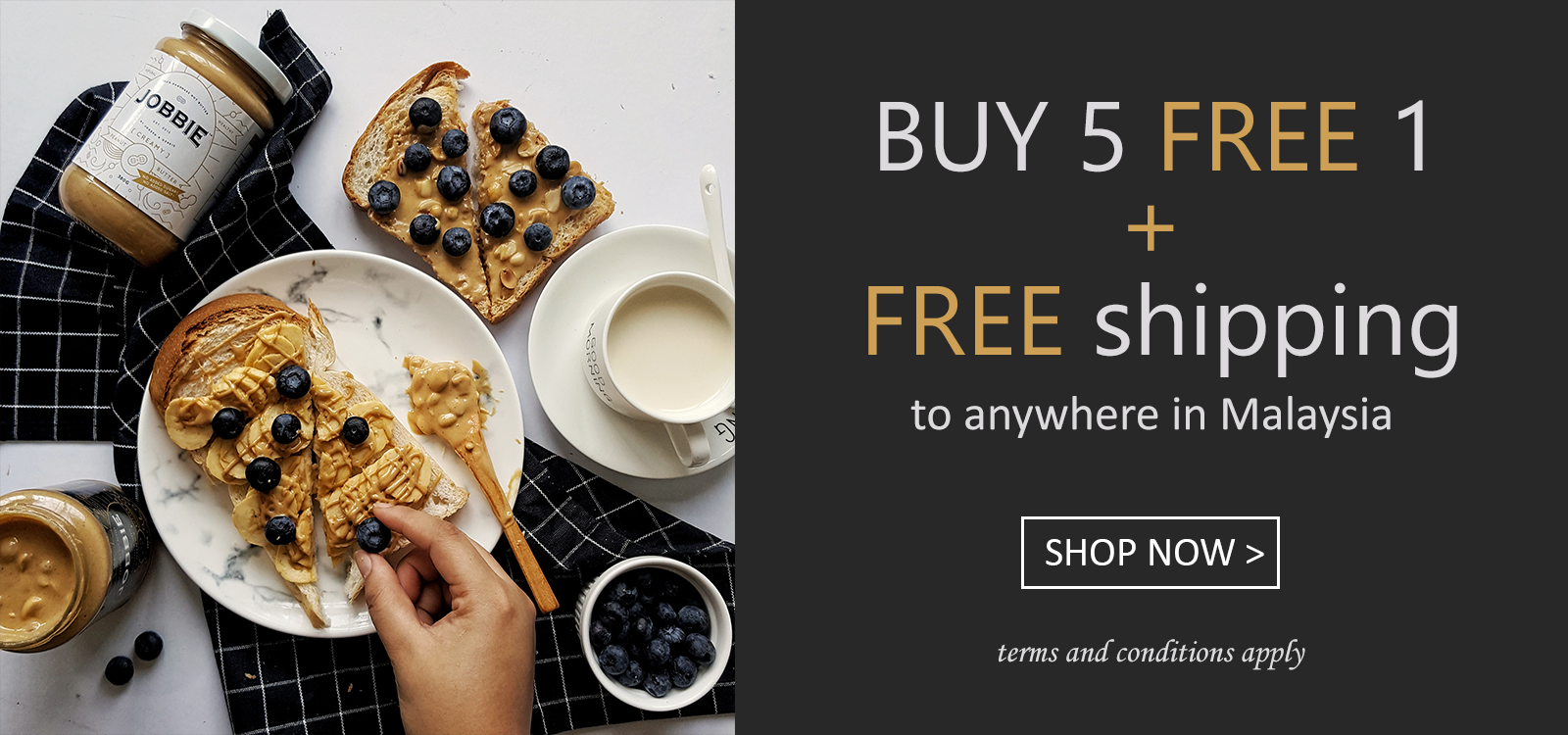 Jobbie Nut Butter BUY5FREE1 Free delivery