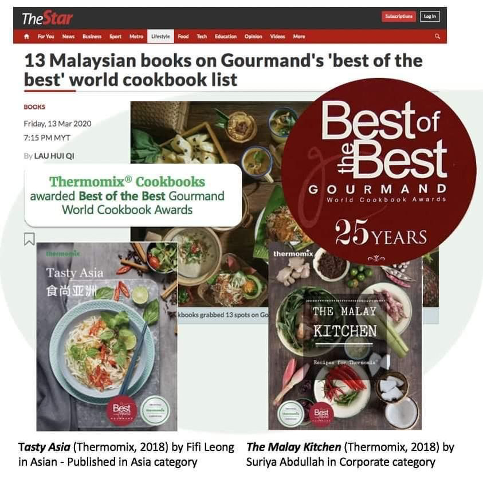 The Star - Thermomix Cookbooks awarded Best of the Best Gourmand World Cookbook Awards - written by Fifi Leong