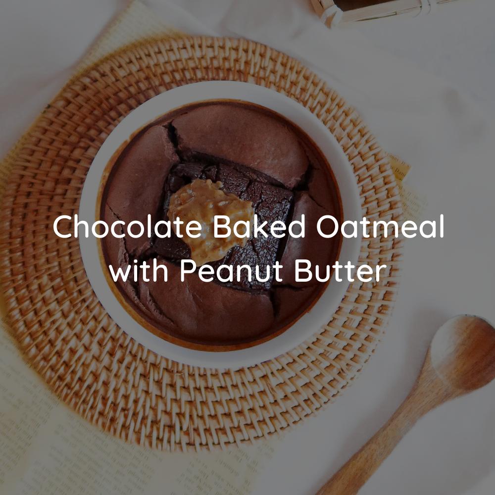 Chocolate Baked Oatmeal with JOBBIE Peanut Butter