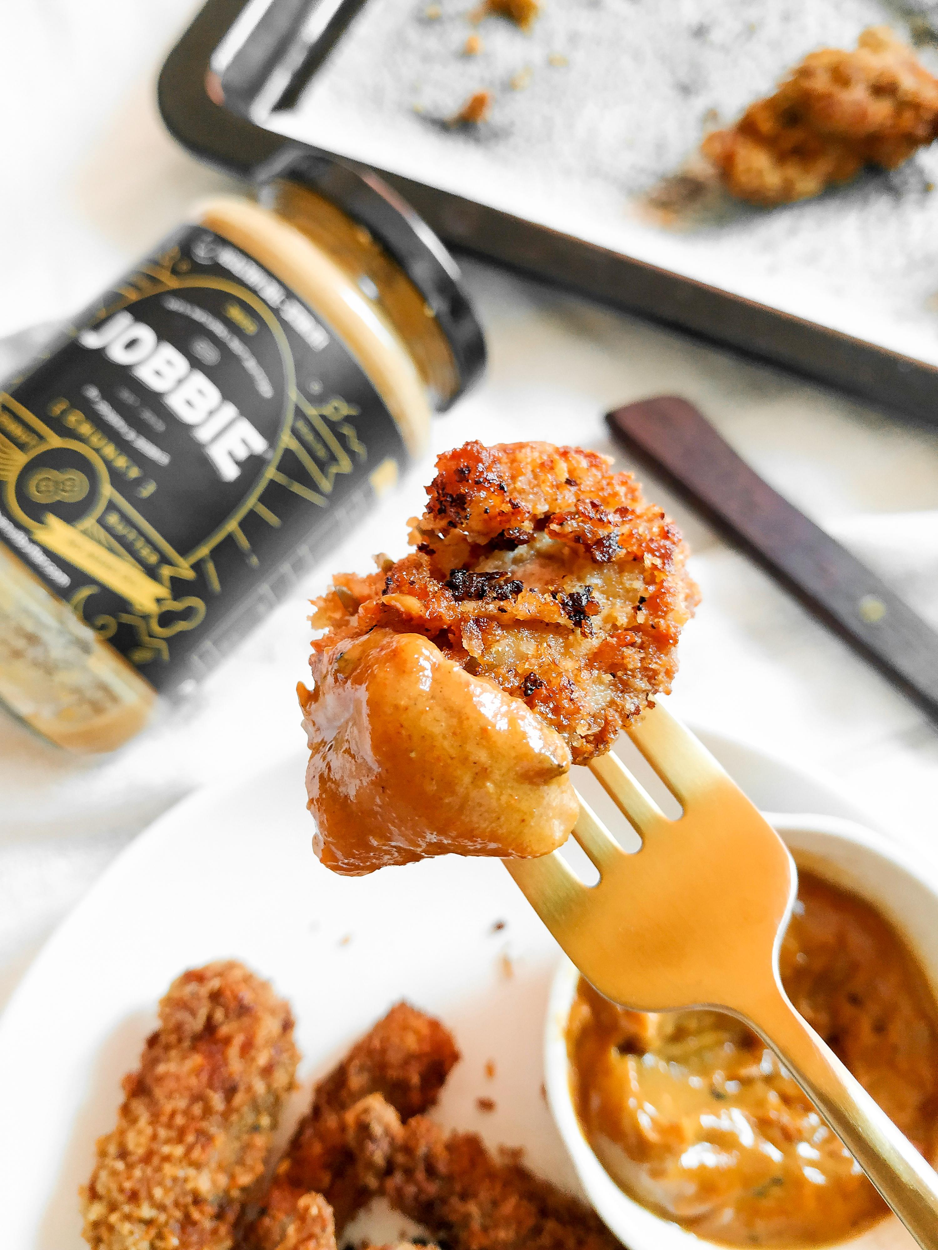 JOBBIE Peanut Butter Dry Curry Chicken Katsu Strips Japanese Fried Chicken