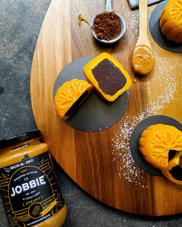 JOBBIE Peanut Butter Pumpkin Cocoa Sweet Potato Mooncake