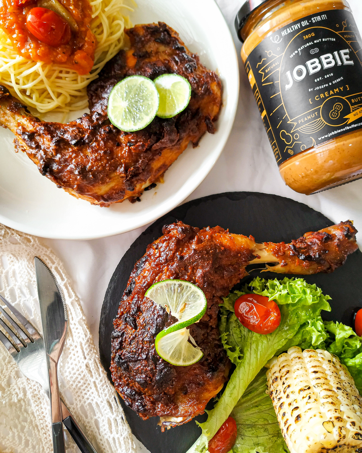 JOBBIE Peanut Butter and Lime Grilled Chicken