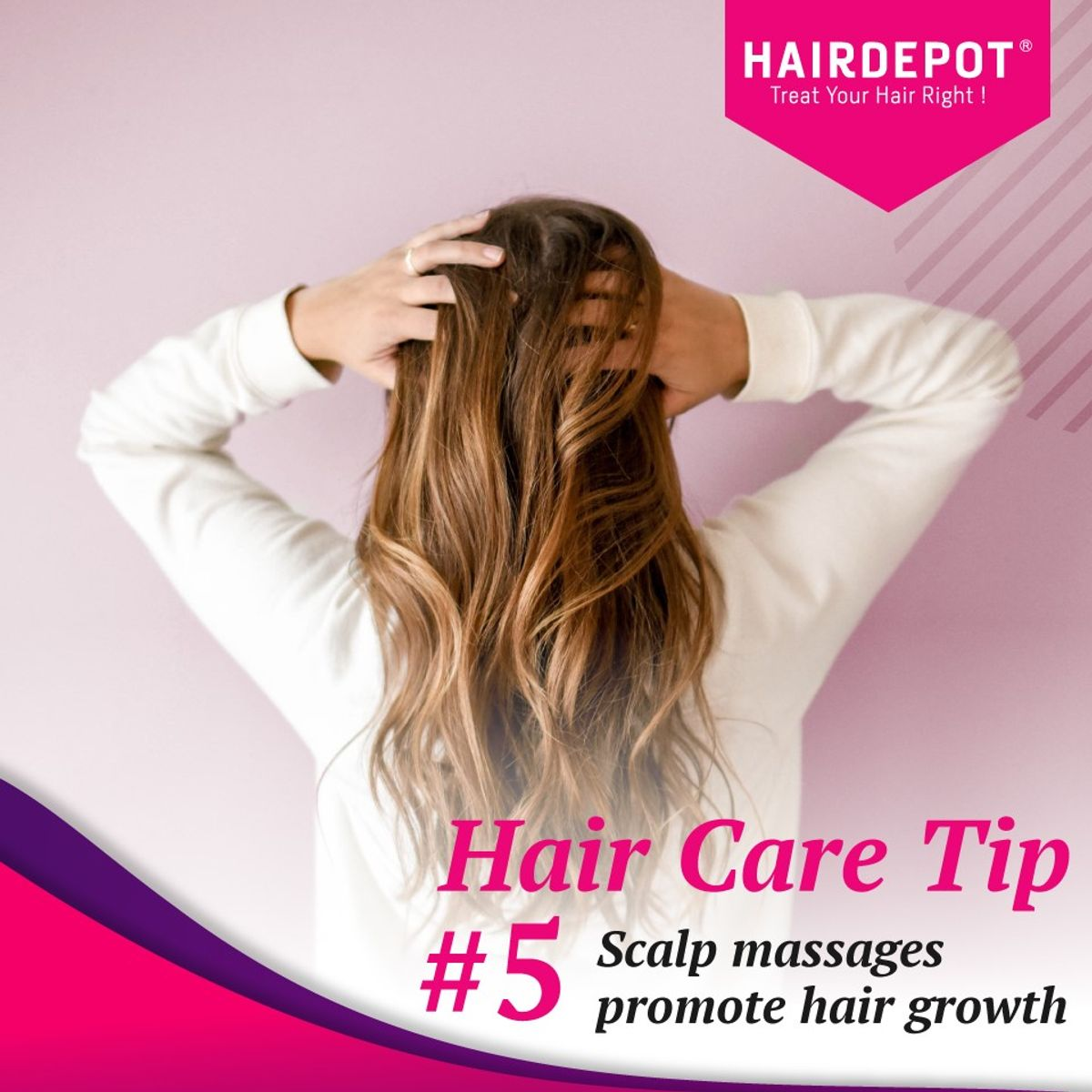 Hair Care Tip - Scalp Massages Promote Hair Growth