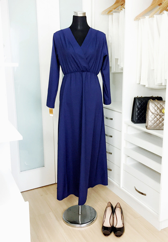 Pappers Avenue Dress Wrap Blue.jpg