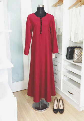 Pappers Avenue Jubah Red.jpg