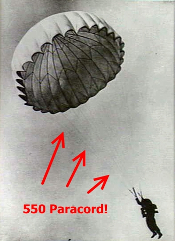 Paracord Used in Parachute
