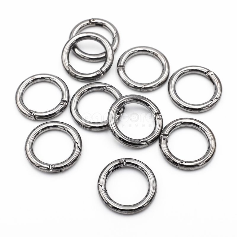 28 mm Shiny Spring Loaded Keyring Keychain Ring