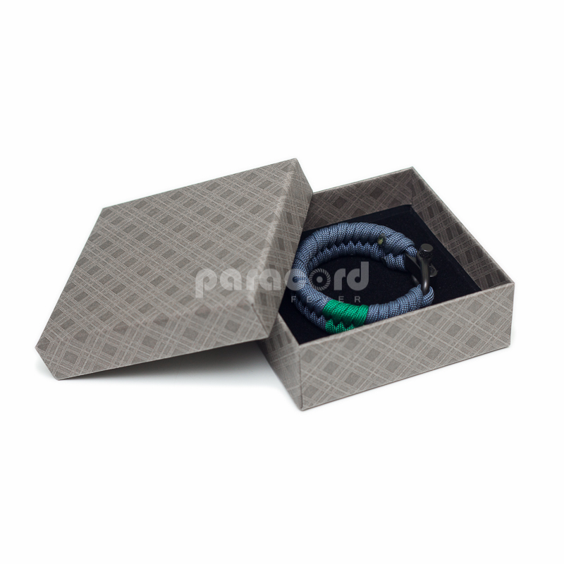 Bracelet Gift Box - Grey Diamonds Pattern