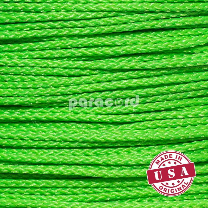 "1/16"" (1.6 mm) Thin Micro 90 Cords - Neon green"