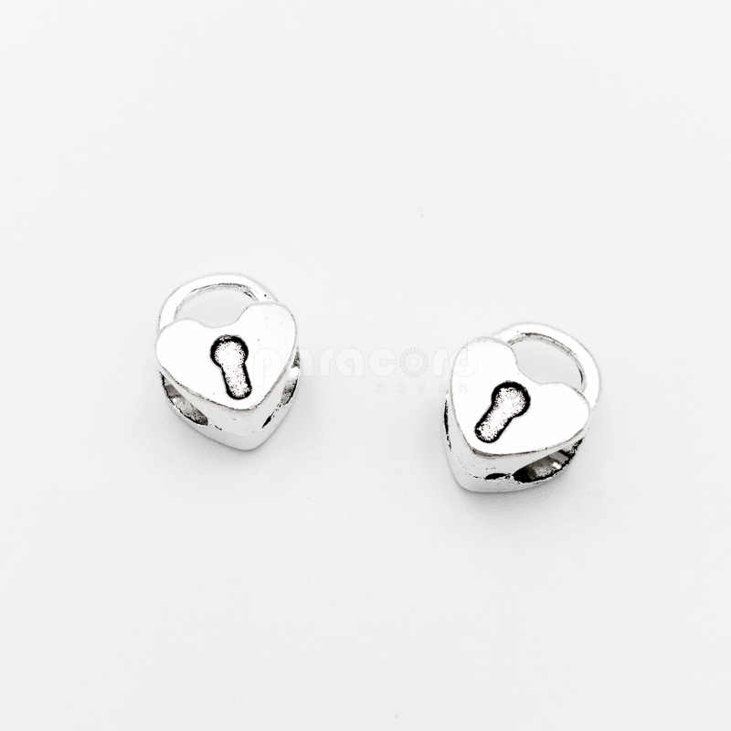 4 mm Cute Mini Heart Shaped Lock Bead