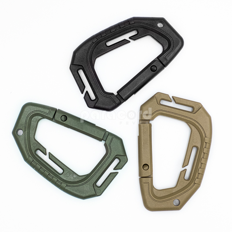 MOLLE Spring Loaded Military Tactical Outdoor Backpack EDC Lightweight Heavy Duty Clip Carabiner