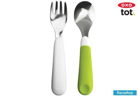 oxo tot Fork & Spoon Set-green.jpg