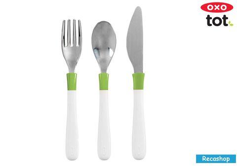 Oxo Tot Cutlery Set For Big Kids  Green.jpg
