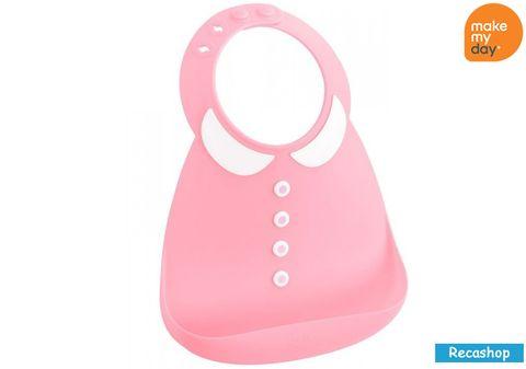 Make My Day Baby Bib - Peter Pan Pink.jpg