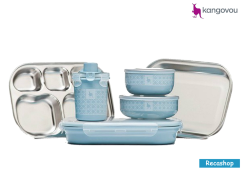 Kangovou Kids Dishware Set (Frosted Blueberry).fw.png