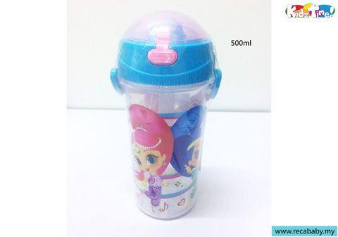 SJ-JH588(B)-Shimmer Shine straw bottle 550ml- Blue.jpg