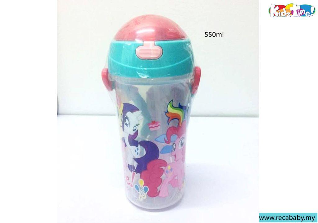 ML-LH588- Kidztime- My little pony 550ml straw bottle.jpg