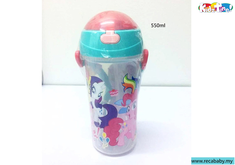 ML-LH588- Kidztime- My little pony 550ml straw bottle.jpg