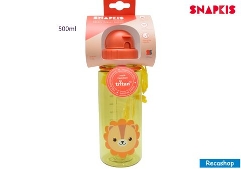 SNAPKIS STRAW WATER BOTTLE lion.jpg