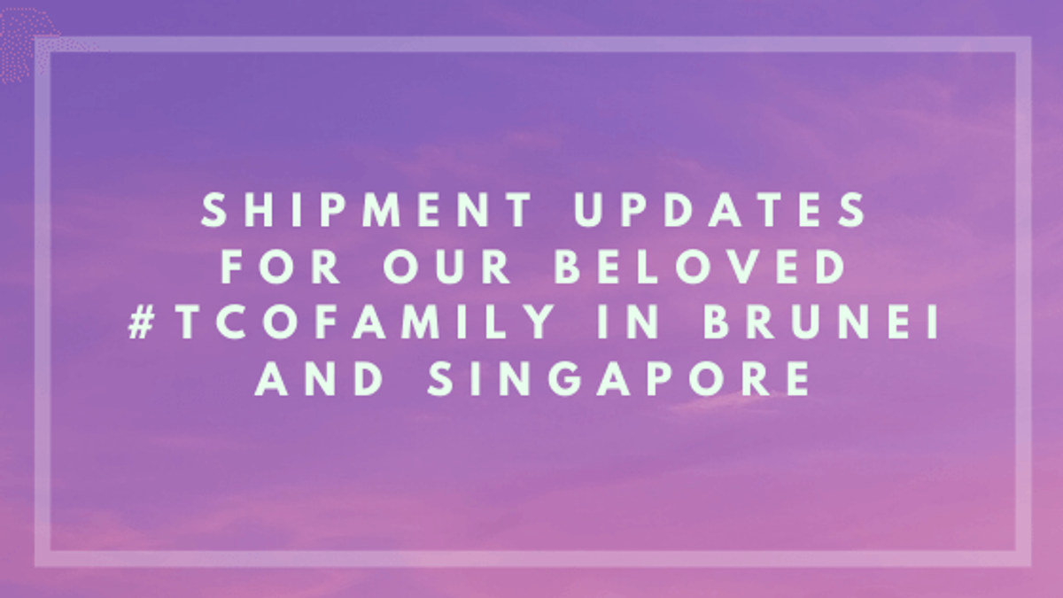 Temporary suspension of orders from Brunei and Singapore
