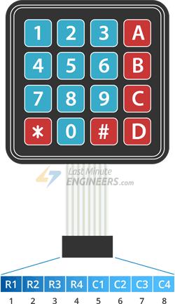 4x4-Mambrane-Keypad-Pinout