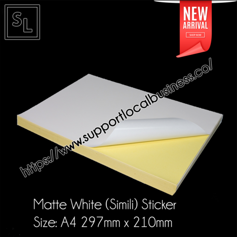 Matte white (Simili) Sticker A4.png
