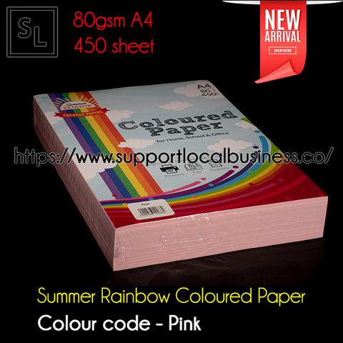 Summer Rainbow Coloured Paper - Pink.jpg