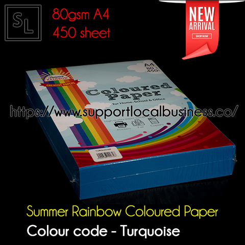 Summer Rainbow Coloured Paper - Turquoise.jpg