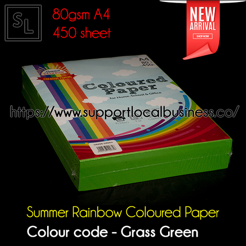 Summer Rainbow Coloured Paper - Grass Green.jpg