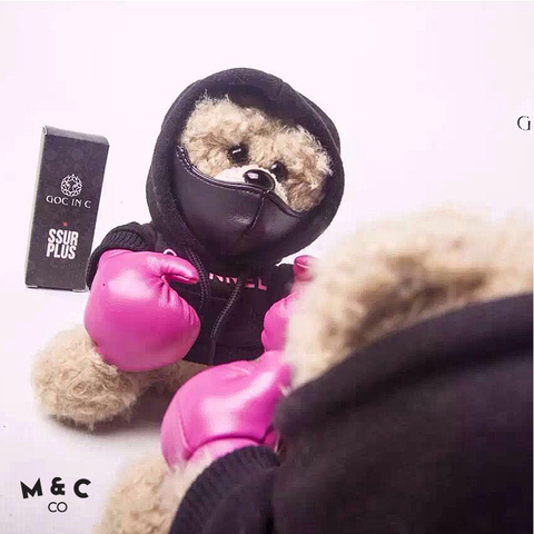 GOC IN C  SSUR  teamed up - pink knuckles boxing bear power bank 8000mah6.jpg