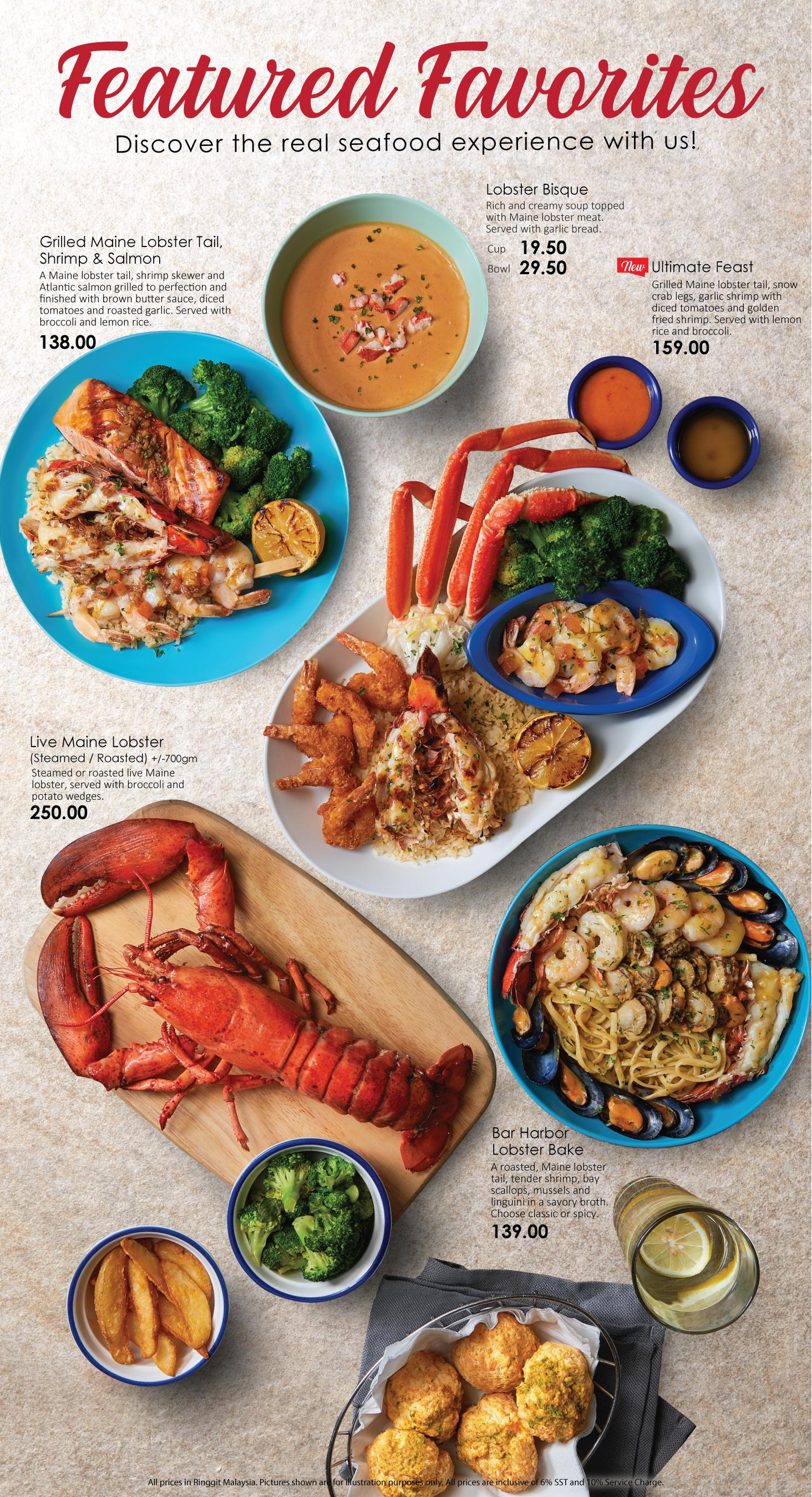 Menu Red Lobster Malaysia