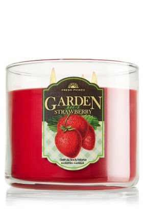 Bath Body Works 3 Wick Candle Fresh Picked Garden Strawberry Beautyspot Malaysia 39 S