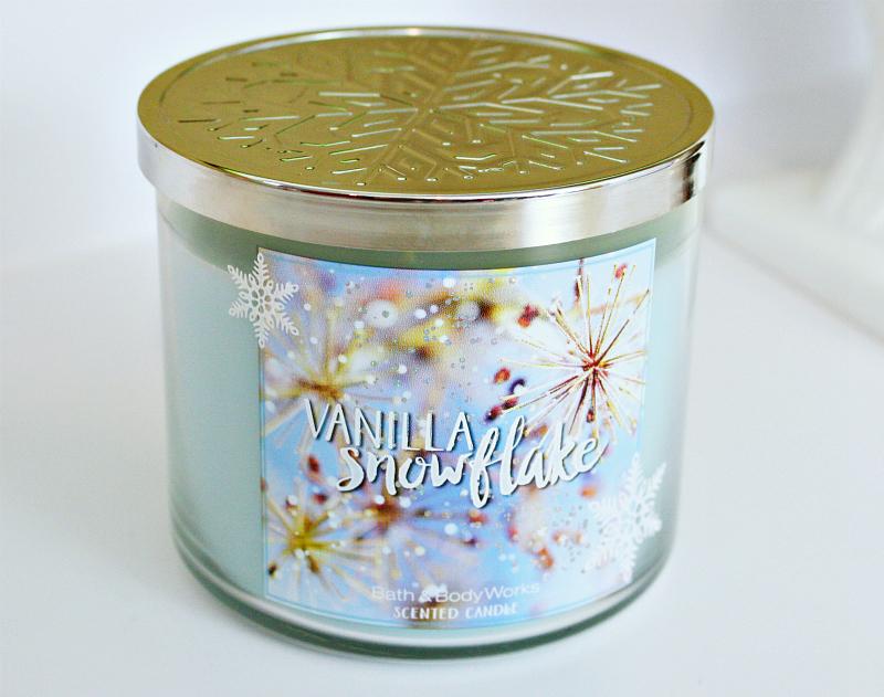Bath & Body Works 3-Wick Candle - Vanilla Snowflake ...